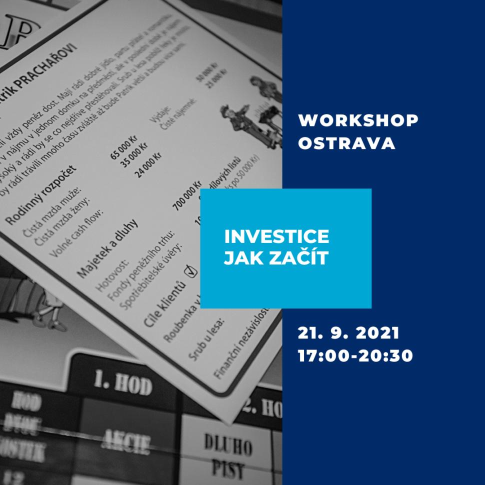 Workshop - Investice jak začít - Ostrava